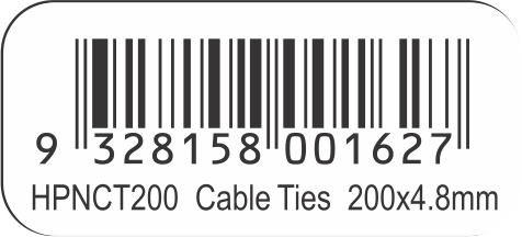 HPNCT200 Neutral Cable Ties 200 x 4.8mm